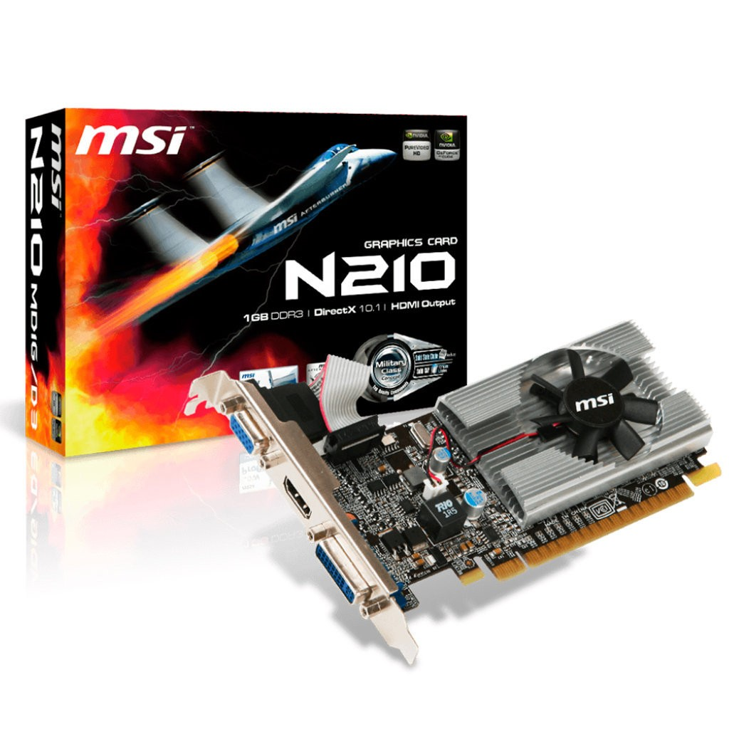 Placa de Vídeo MSI Geforce GT210 1GB - N210-MD1G/D3