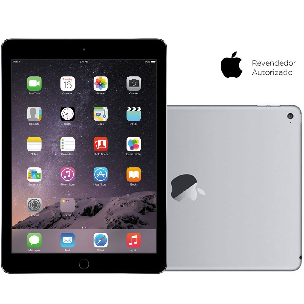 Tablet Apple iPad Air 2 Wi-Fi 128GB Cinza Espacial