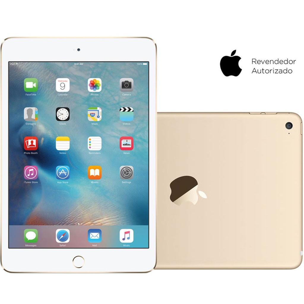 Tablet Apple iPad Mini 4 Wi-Fi 128GB Dourado