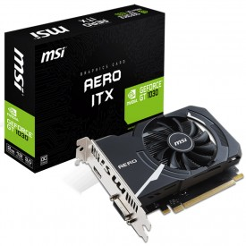 Caixa Placa de Vídeo MSI GeForce GT 1030 AERO ITX 2GB OC