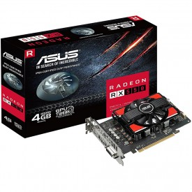 caixa placa de video asus radeon rx 550 4gb rx550 4g