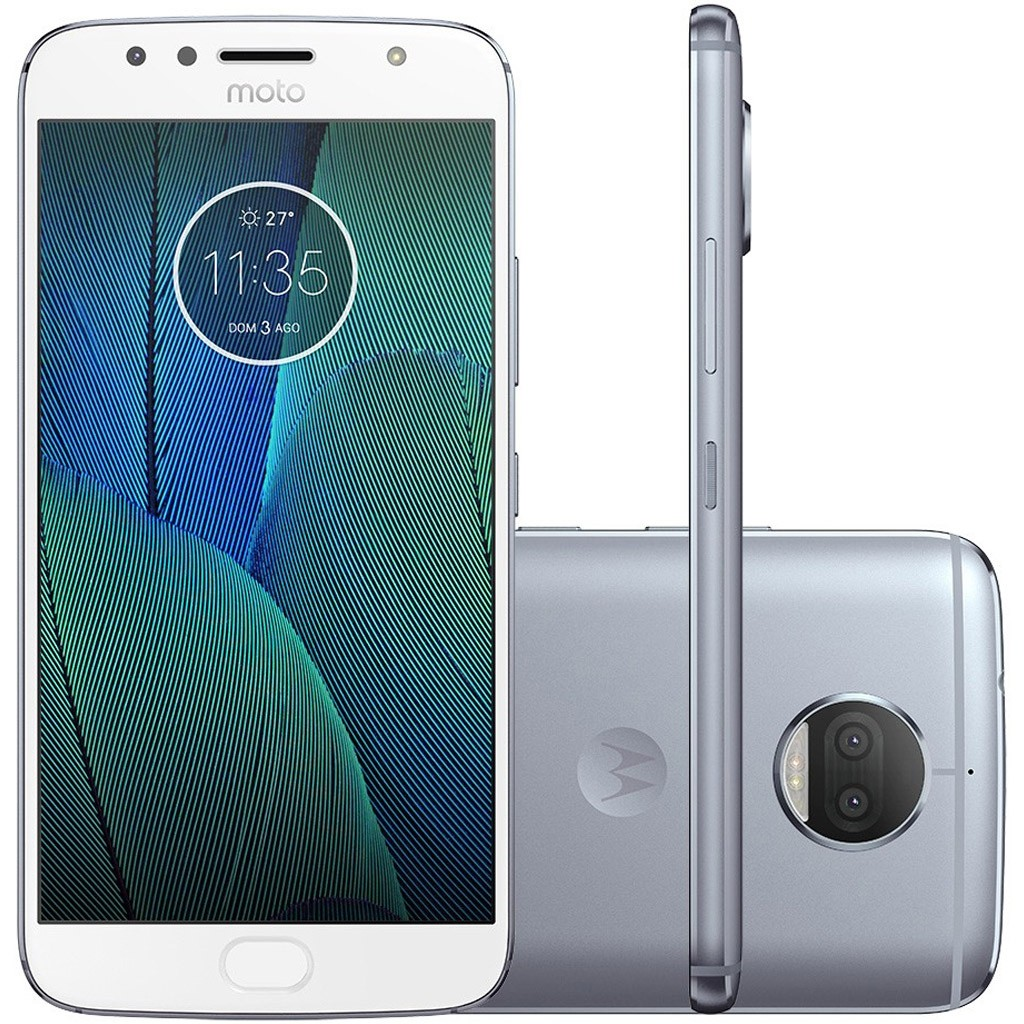 Smartphone Motorola Moto G5S Plus TV Digital 32GB XT1802 Azul Topázio
